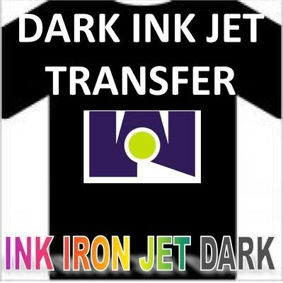 NEW Iron on Heat Transfer Paper Dark Colors shirt  Blue Line 50 sheets pack