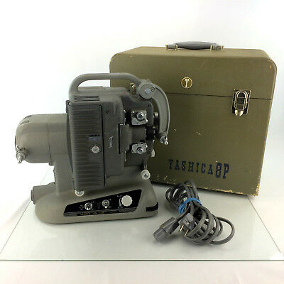 Yashica 8P Film Projector 8mm Movie Reel Player Vintage 1960's Variable Speed