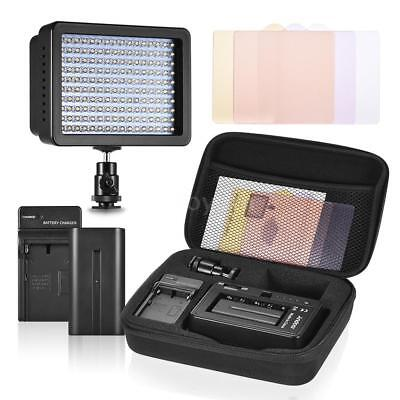 Andoer LED Video Camera Light Portrait w/ Battery/Charger/3 Filters for Canon