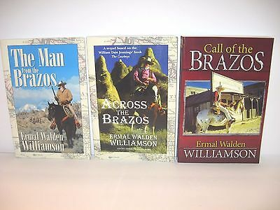 Lot of 3 Ermal Walden Williamson BRAZOS Series SIGNED Books Across Brazos + More