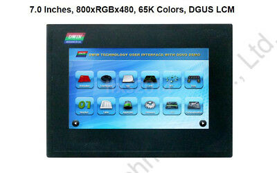 7 inch HMI LCD Touch Panel Display Screen 800x480 RS232 RS485 Case IP65 CE RoHS