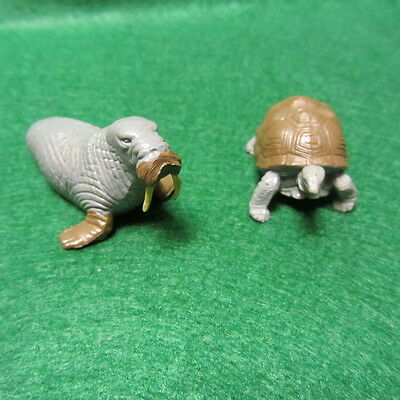 Two Vintage 1970's Britains Ltd Walrus & Turtle Made In England
