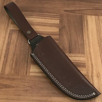 "AR10/Custom Handmade Leather Sheath For 5""—6"" Cutting blade knife"