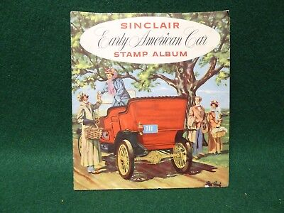 Sinclair Early American Car Stamp Album 1940's - All Stamps Collected
