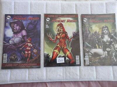 zenescope  grimm fairy tales code red age darkness issues 1, 2 , 4 clearance