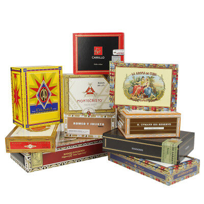 Empty Decorative Cigar Boxes - Set/10