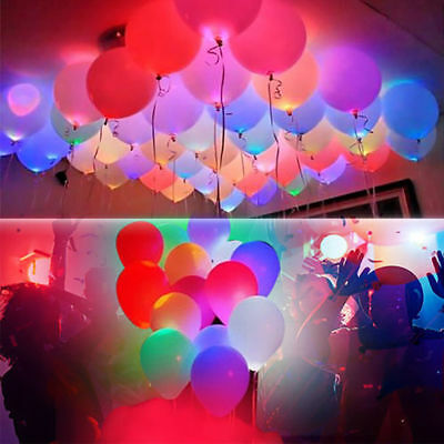 LED balloons 50 pack light up balloons PERFECT PARTY birthday wedding decoration
