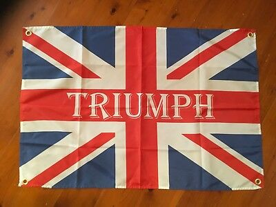 Flag triumph bar Garage flag man cave bar flag novelty motor cycle Wallhanging