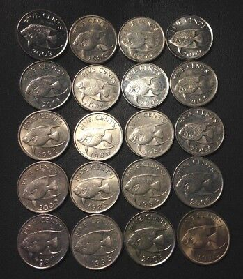 Old Bermuda Coin Lot - 20 Excellent Low Mintage Coins - Lot #518