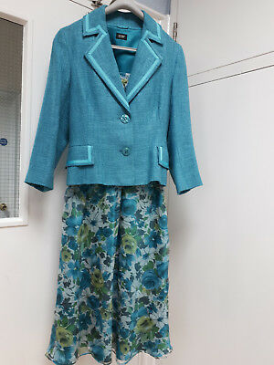 HOBB\'S DRESS and jacket wedding outfit with matching shoes turqoise ...