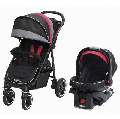 Graco Aire4 XT Click Connect Travel System Stroller, Marco ,including car seat!
