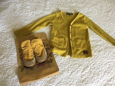 PAPERKRANE Dijon flexi Size 24 shoes and Matching BEAU HUDSON Cardi Size 2