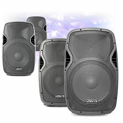 "CHOICE Vonyx AP Active Powered Mobile DJ Disco Speaker 8"" 10"" 12"" 15"" 200W-800W"