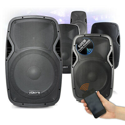 "CHOICE Vonyx Active Powered Bluetooth Mobile DJ Disco Speaker 10""-15"" 400W-800W"