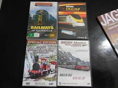4 x train dvd,s.....  being sold for the mackay model railway club