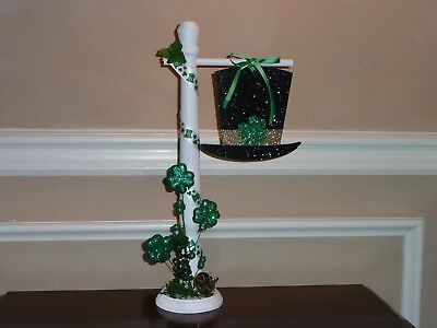 ST. PATRICK'S DAY IRISH HAT SIGNPOST ACCESSORY FOR BYERS CHOICE ~Nice w/carolers