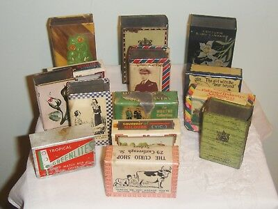 Fantastic collection of 14 metal match box covers