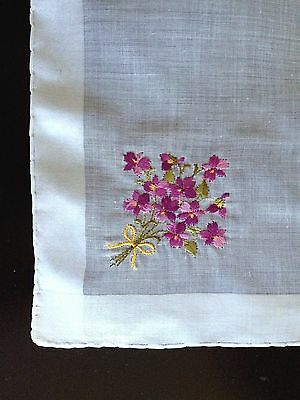 A+ Vintage Swiss Embroidered Fine Cotton Bridal Hankie Bouquet of  Sweet Violets