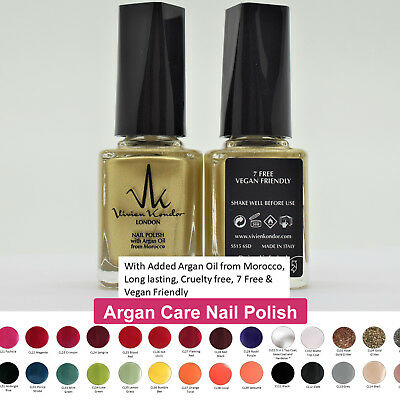 Vegan Nail Polish With Morocco Argan Oil Fast Drying No Animal Test 7 Free