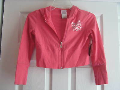 NEW w/ tags Capezio hooded Dance Jacket, Salmon pink - Size medium