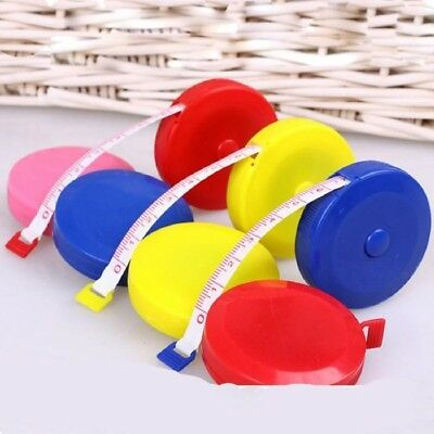 1 PCS Useful Retractable Ruler Tape Measure - 1.5M - Mini Cute - Dieting Tailor