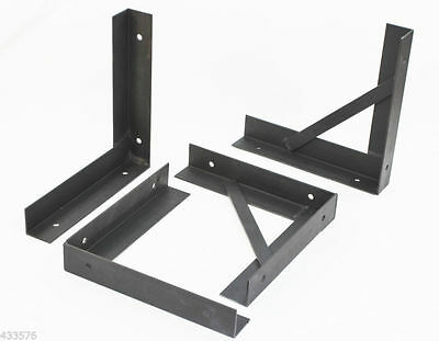 Heavy Duty UK British Made Mild Steel Pair of gallows brackets
