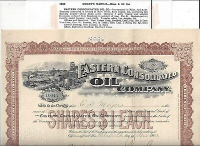 Stk-Eastern Consolidated Oil Co.  1902 California Oil Kern County See image 1&6