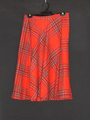 1970's Vintage Flared Check Wool Skirt.