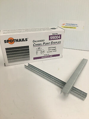 "SPOTNAIL 99004 1400 SERIES STAPLERS 1/4"" LENGTH SPOTNAILS (10,000) x10 boxes"