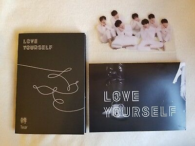 Unsealed BTS Love Yourself: Tear O Album + Poster+ Standing Photo (NO PHOTOCARD)