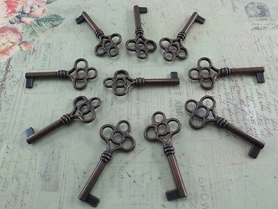 Vintage Style Open Barrel Skeleton Key Furniture Cabinet (Lot of 10)New