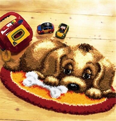 DIY Latch Hook Kit Craft about 21''*15''' Rug Cute Little Dog