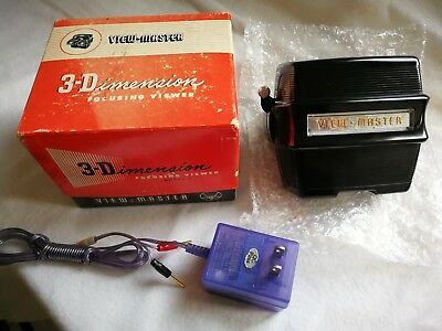 Custom-adapted Viewmaster MODEL D viewer with LED and power adapter