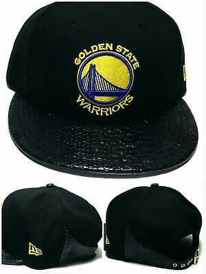 a8b4aa1ce16 Golden State Warriors New Era 9Fifty Snakeskin Black Snapback Strapback Hat  Cap