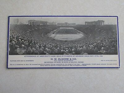 sba52 Army Navy Game 1926 Ink Blotter Soldiers Field Chicago Football crowd