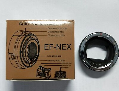 Auto Focus AF Adapter EF-NEX Canon EF to Sony Nex A7