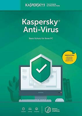 Kaspersky Antivirus Security 2019 1 PC 1 Jahre EU Deutch , Anti-virus , internet