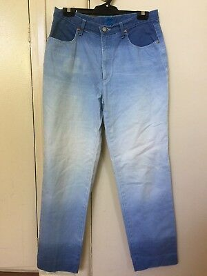 80's Vintage Retro - Christian Lacriox Ombre denim jeans high waisted - size 31