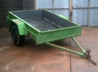 Trailer 6 X 4 Steel Cheap Great Worker Pick Up Melbourne Only Hook Up Drive Away