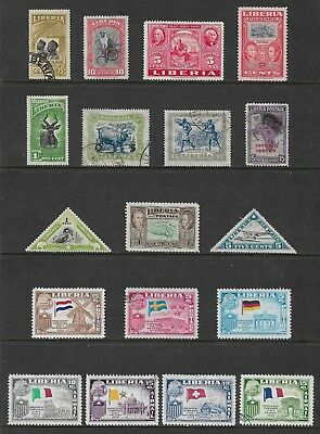 LIBERIA mixed collection No.7, used & mint