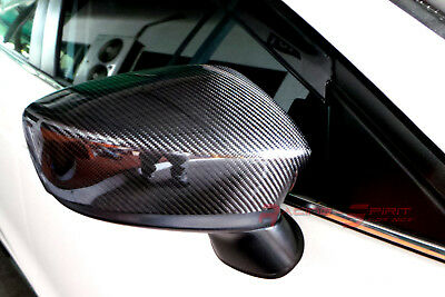 REAL 3D GLOSS CARBON FIBER SIDE MIRROR COVER 04-09 MAZDA3 BK 4-5 DRs MAZDASPEED