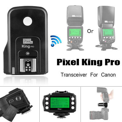 Pixel King Pro 2.4G Wireless TTL Flash Trigger Transceiver LCD Screen for Canon