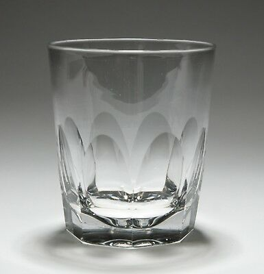 Antique Victorian Hollow Flute Cut Whiskey Tumbler Drinking Glass c1880