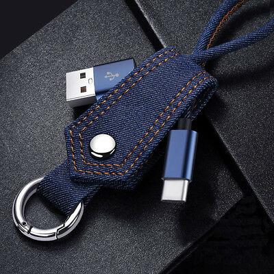 Keyring Charger Cable Sync Data Lead for Apple iPhone 7 iPad USB Key Ring USB-C
