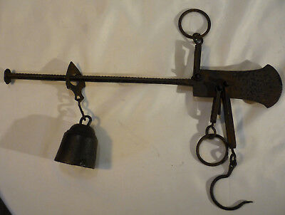 Antique Wrought Iron Balance Beam Scales 18kg C19th French Maker Ratinaud