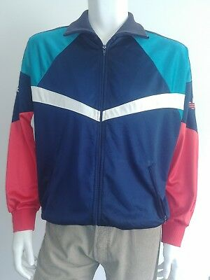 Adidas vintage 90s tracksuit track top size L - great looking unusual design