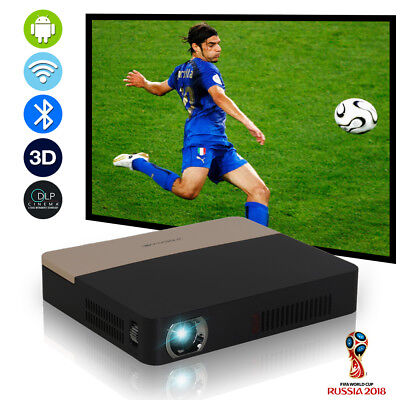 1080P Mini DLP 3D Beamer Android Wifi Bluetooth HD Heimkino Projektor HDMI USB
