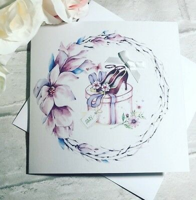 Beautiful Floral Personalised Birthday Card For women 18th 21st 25th 30th