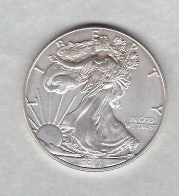 Usa 1 Ounce Eagle 2017 Silver Dollar In Near Mint Condition