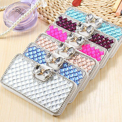 Luxury Bling Glitter Diamond Wallet Case Cover For Samsung Galaxy s7edge s8 Plus